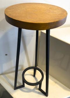 Bauhaus modernist french blond wood pair of side tables - 1025917