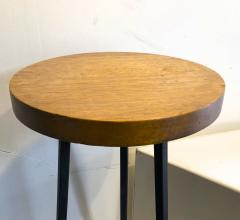 Bauhaus modernist french blond wood pair of side tables - 1025919