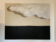 Beatrice Pontacq GRAND NUAGE ET HORIZON PRESQUE NOIR Abstract Painting - 1133024