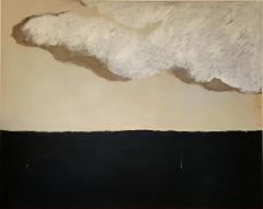 Beatrice Pontacq GRAND NUAGE ET HORIZON PRESQUE NOIR Abstract Painting - 1133246