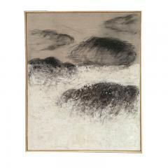 Beatrice Pontacq NUAGES NOIRS ET ARGILE BLANCHE Abstract Painting - 1133012