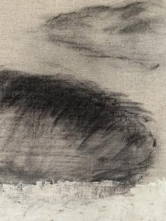Beatrice Pontacq NUAGES NOIRS ET ARGILE BLANCHE Abstract Painting - 1133015