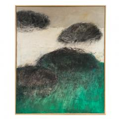Beatrice Pontacq NUAGES NOIRS HORIZON VERT Abstract Painting - 1133016