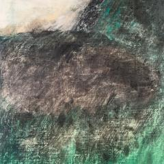 Beatrice Pontacq NUAGES NOIRS HORIZON VERT Abstract Painting - 1133018