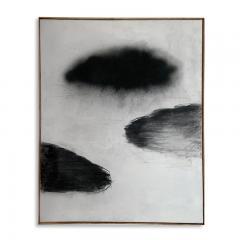 Beatrice Pontacq NUAGES NOIRS SUR FOND BLANC Painting - 1504306