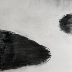 Beatrice Pontacq NUAGES NOIRS SUR FOND BLANC Painting - 1504307