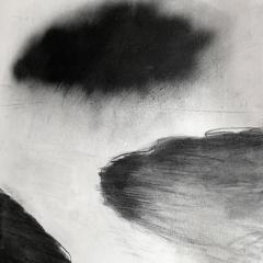 Beatrice Pontacq NUAGES NOIRS SUR FOND BLANC Painting - 1504309