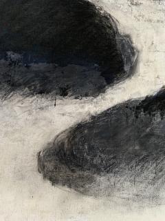 Beatrice Pontacq NUAGES NOIRS SUR FOND BLEU FONCE Abstract Painting - 1133009