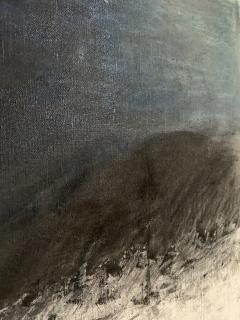 Beatrice Pontacq NUAGES NOIRS SUR FOND BLEU FONCE Abstract Painting - 1133011