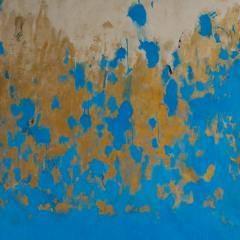 Beatrice Pontacq TRIPTYQUE BLEU ET OR Blue and Gold Triptych - 1504249