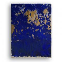 Beatrice Pontacq TRIPTYQUE BLEU ET OR Blue and Gold Triptych - 1504251