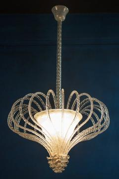 Beautiful Art Deco Murano Chandelier or Lanterne 1940s - 2057462