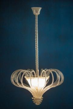 Beautiful Art Deco Murano Chandelier or Lanterne 1940s - 2057463