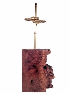 Beautiful Burl Table Lamp - 1590433