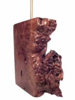 Beautiful Burl Table Lamp - 1590434