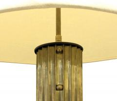 Beautiful Fluted Bronze Table Lamp 1940s - 1055870