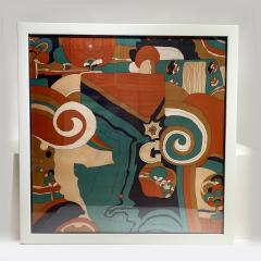 Beautiful Framed square scarf - 2086094