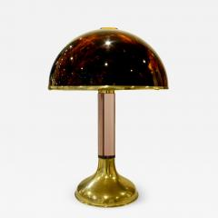Beautiful Table Lamp with Tortoiseshell Lucite Shade 1970s - 692613