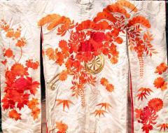 Beautiful Vintage Japanese Ceremonial Kimono Uchikake - 1002452