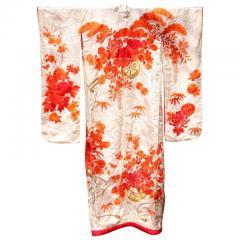 Beautiful Vintage Japanese Ceremonial Kimono Uchikake - 1003633