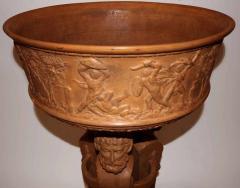 Beautiful and rare terracotta pedestal washbasin circa 1880 1900 - 915976