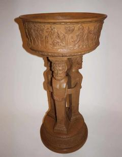 Beautiful and rare terracotta pedestal washbasin circa 1880 1900 - 915977