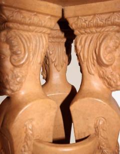 Beautiful and rare terracotta pedestal washbasin circa 1880 1900 - 915980