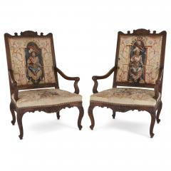 Beauvais Royal Manufacture 18th century Beauvais tapestry furniture suite - 1443680