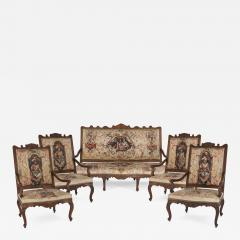 Beauvais Royal Manufacture 18th century Beauvais tapestry furniture suite - 1446473