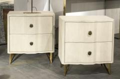 Bedsides tables in shagreen by Studio Glustin - 1017238