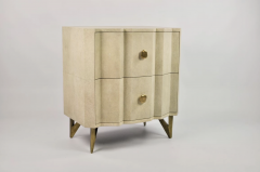 Bedsides tables in shagreen by Studio Glustin - 1017239