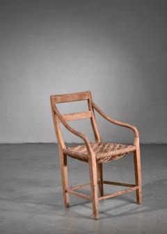 Beech and Woven Rope Armchair Denmark 19th Century - 1736058