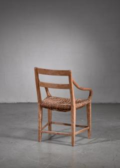 Beech and Woven Rope Armchair Denmark 19th Century - 1736060