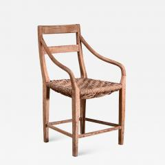 Beech and Woven Rope Armchair Denmark 19th Century - 1737036