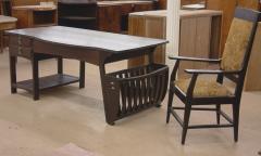 Belgian Art Nouveau Desk and Armchair - 296203
