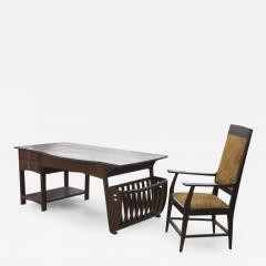Belgian Art Nouveau Desk and Armchair - 296466