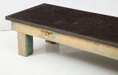 Belgian Bluestone Coffee Table Console with Oak Base France c 1900 - 969830