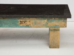 Belgian Bluestone Coffee Table Console with Oak Base France c 1900 - 969831