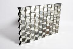 Belgian Glass Cube Brutalist Art Panel by Olivier de Shernee - 1191499