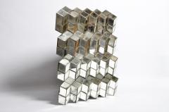 Belgian Glass Cube Brutalist Art Panel by Olivier de Shernee - 1191505