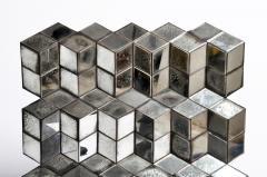 Belgian Glass Cube Brutalist Art Panel by Olivier de Shernee - 1191507