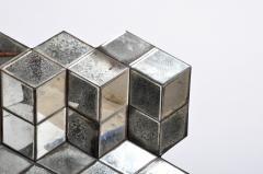 Belgian Glass Cube Brutalist Art Panel by Olivier de Shernee - 1191510