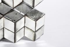 Belgian Glass Cube Brutalist Art Panel by Olivier de Shernee - 1191511