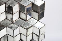 Belgian Glass Cube Brutalist Art Panel by Olivier de Shernee - 1191513