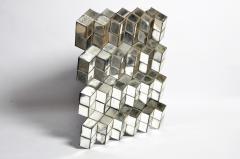 Belgian Glass Cube Brutalist Art Panel by Olivier de Shernee - 1191515