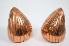 Ben Seibel Ben Seibel Clam Bookends in a Copper Finish - 1279487