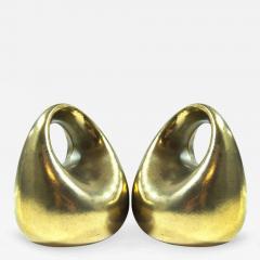 Ben Seibel Ben Seibel for Jenfred Ware Orb Brass Bookends - 308376