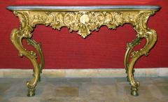 Benedetto Aufieri Gilded and Carved Two Drawer Console of Extraordinary Quality - 278054