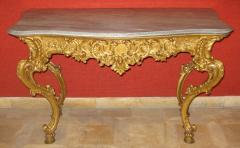 Benedetto Aufieri Gilded and Carved Two Drawer Console of Extraordinary Quality - 278056
