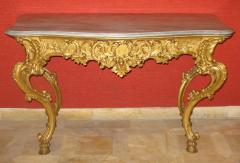 Benedetto Aufieri Gilded and Carved Two Drawer Console of Extraordinary Quality - 278058